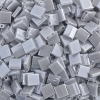 Miyuki Tila Bead 5X5mm 2 Hole Silver Gray Opaque Luster